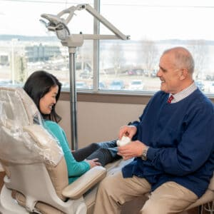 Tacoma Dentist - Dr. Winskill DDS with Patient